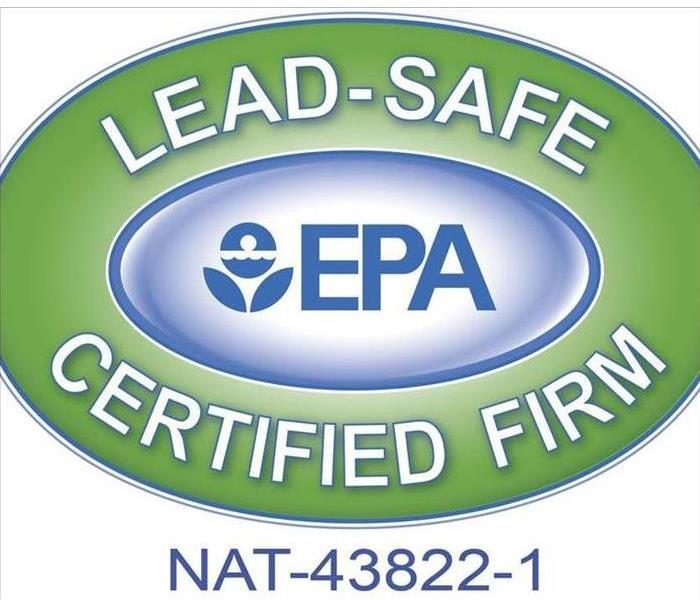 SERVPRO of South Charlotte is a Lead-Safe certified firm, per the logo image.